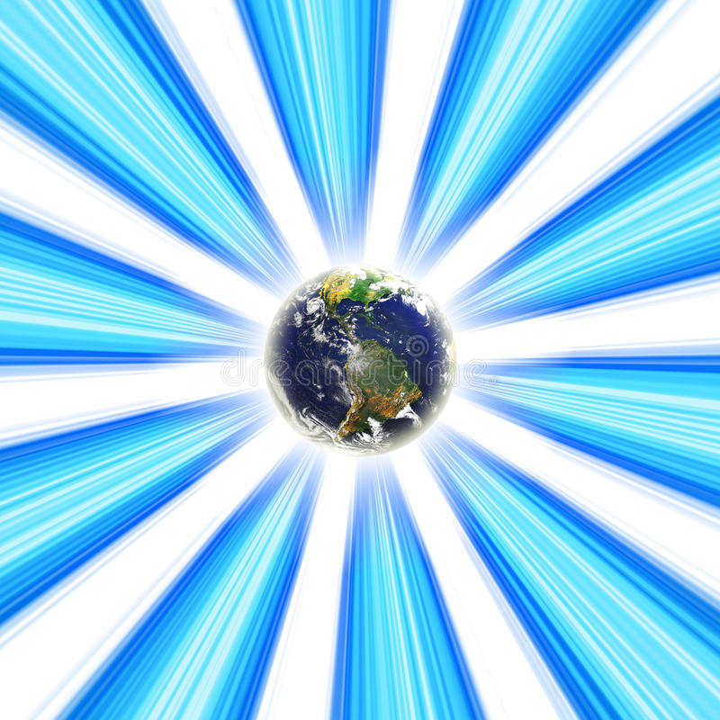 Vortex de la terre de planète illustration libre de droits