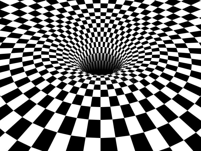 Vortex do buraco negro 3D ilustração do vetor