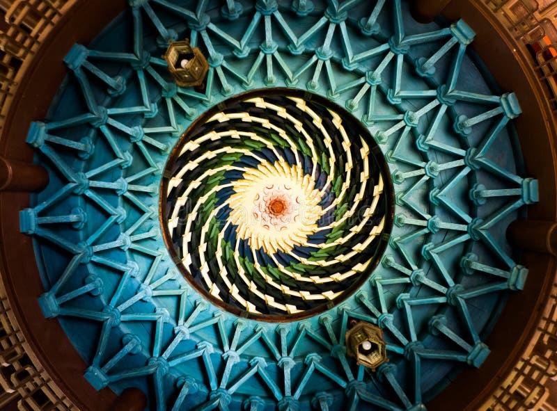 Vortex en bois de plafond photo libre de droits