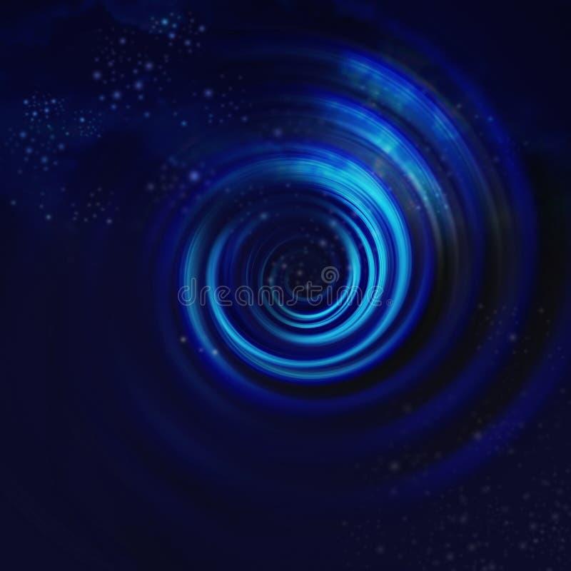 Vortex en spirale bleu illustration de vecteur