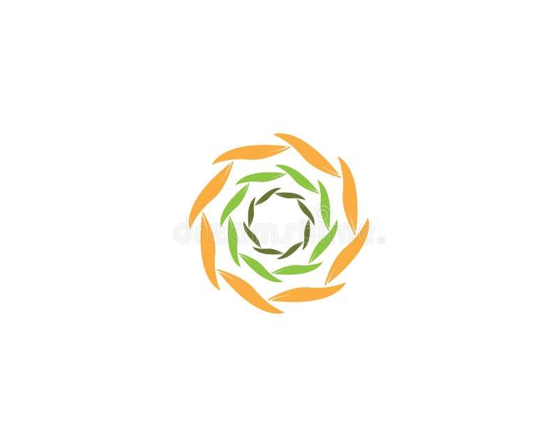 Vortex liścia ikony biznes ilustracja wektor