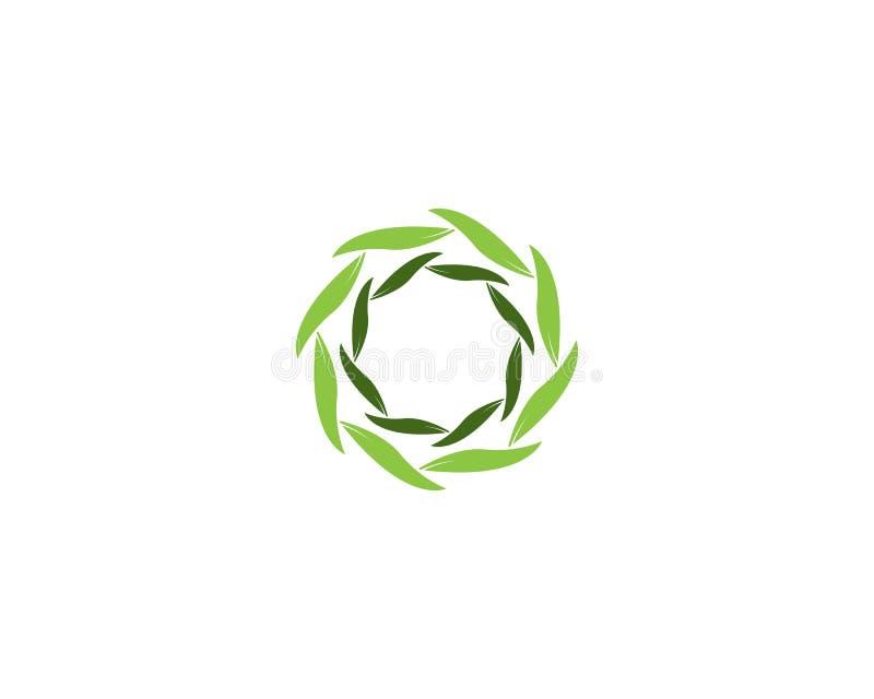 Vortex liścia ikony biznes royalty ilustracja