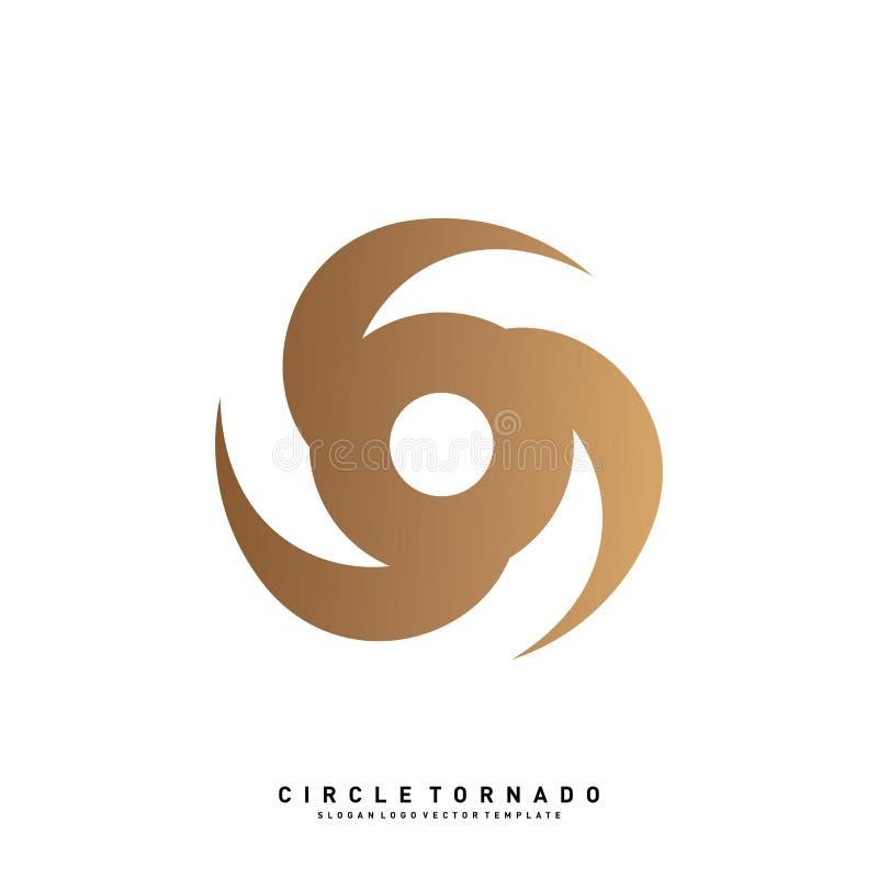 Vortex Logo Design Concept Vector Icône d'ouragan Tornade Logo Symbol illustration de vecteur