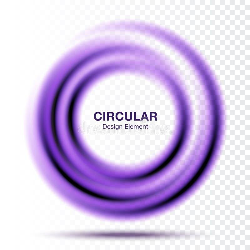 Vortex round fiołkowy gradientowy sztandar Abstrakcjonistyczna purpura zawijasa okręgu rama również zwrócić corel ilustracji wekt ilustracji