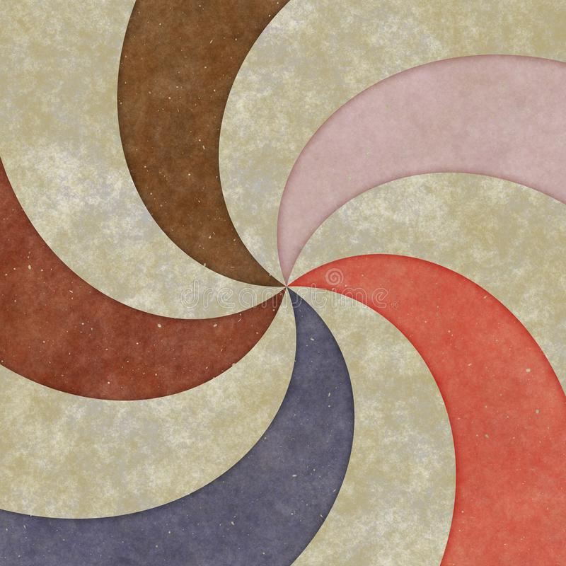 Vortex-shaped circles, curves and spirals, graphic design. Spiral texture stock images