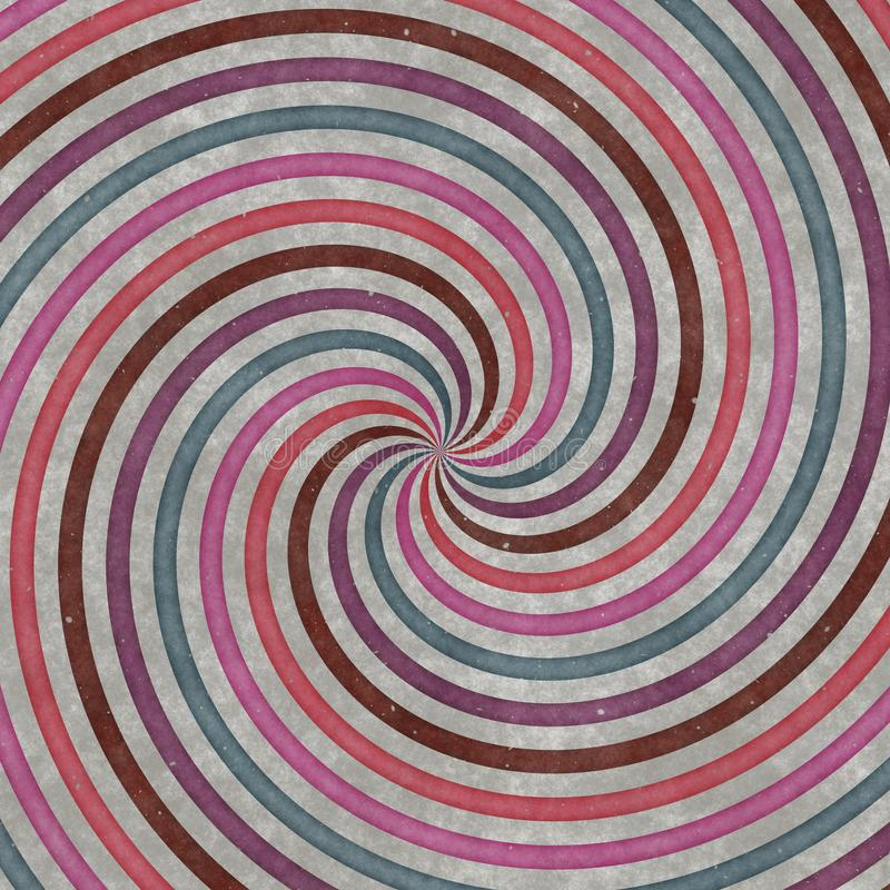 Vortex-shaped circles, curves and spirals, graphic design. Spiral texture stock image