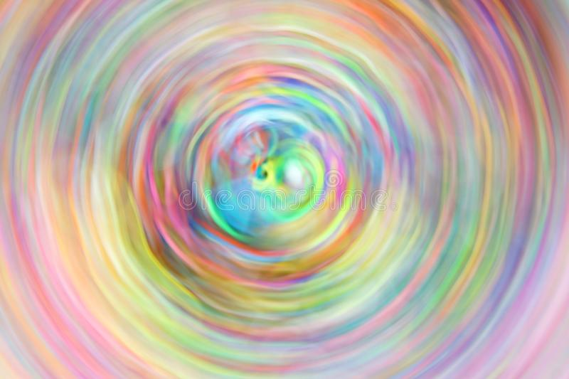 A Vortex of Spinning Colour. An Abstract of Spinning Bands of Colour, Showing a Vortex of Shades with a Blended Pastel Depiction royalty free stock photography