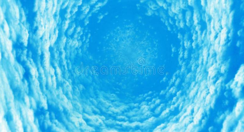 Vortex surreal da nuvem fotografia de stock royalty free