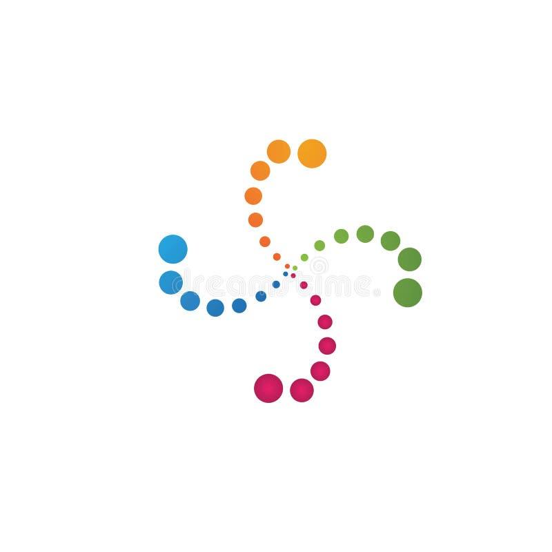 Vortex vector illustration icon. Logo Template design, spiral, tornado, hurricane, swirl, abstract, circle, water, background, symbol, shape, motion, cyclone royalty free illustration