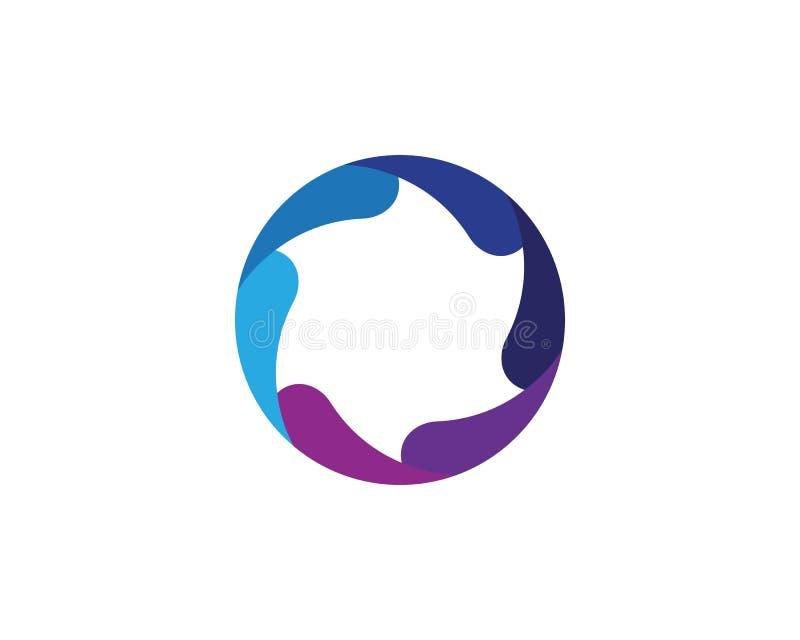 Vortex vector illustration icon. Logo Template design spiral tornado hurricane swirl abstract circle water background symbol shape motion cyclone blue circular royalty free illustration