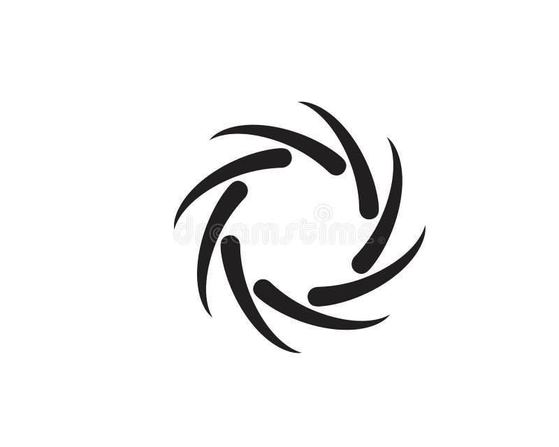 Vortex vector illustration icon. Logo Template design spiral tornado hurricane swirl abstract circle water background symbol shape motion cyclone blue circular stock illustration