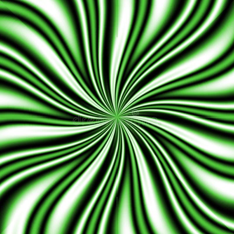 Vortex verde de Swirly ilustração royalty free