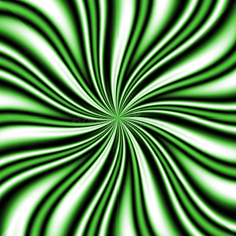 Vortex vert de Swirly illustration libre de droits