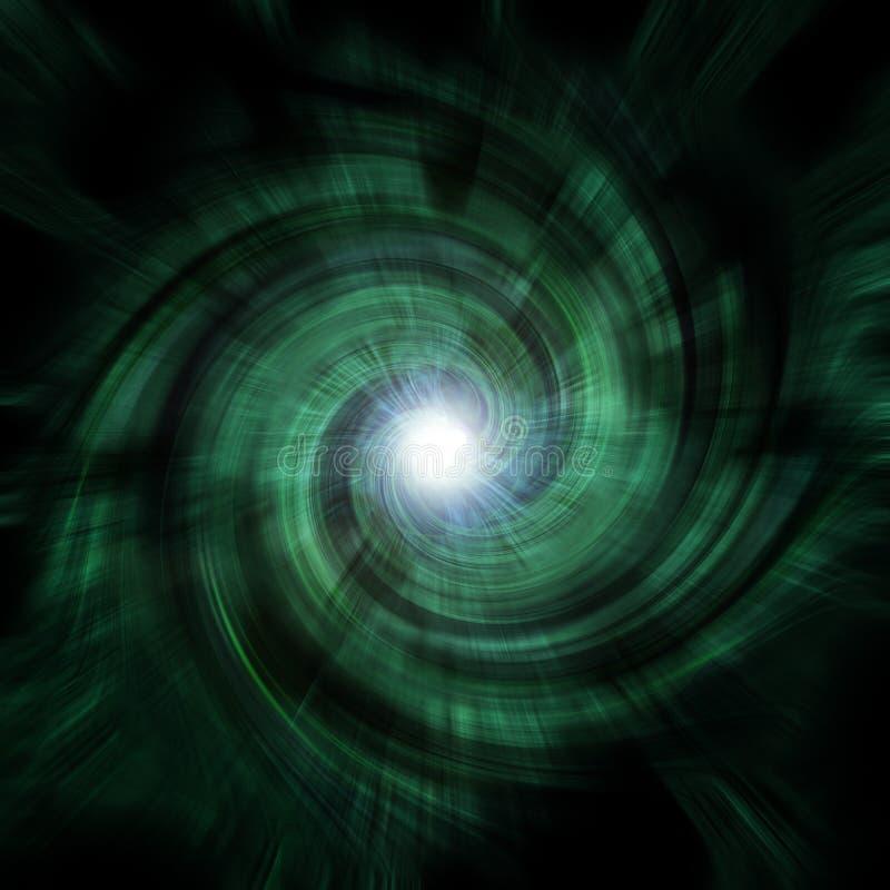 Vortex vert de tunnel illustration de vecteur