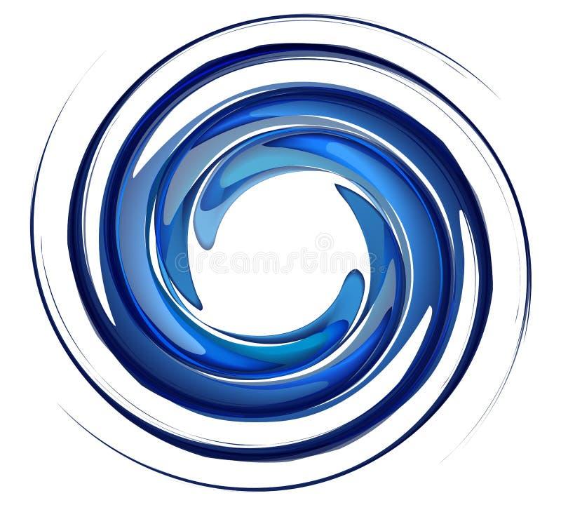 Vortice isolato dell'acqua illustrazione vettoriale