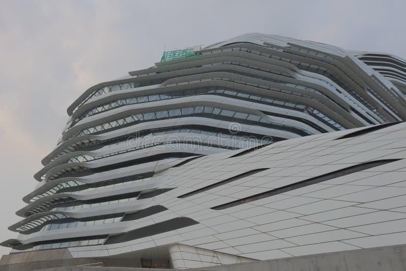 Vortragtheater im Jockey Club Innovation Tower lizenzfreies stockbild