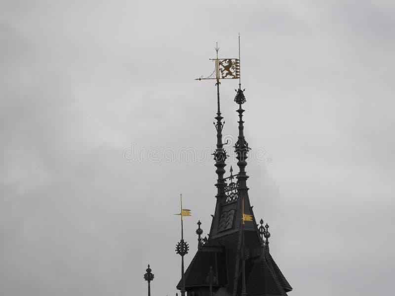 Vorzügliche Architektur von Amsterdam, von Steinfassaden und von Gestaltungselementen Reisen zu Europa stockbild