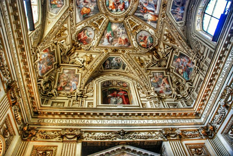 Vorzügliche Decke der Galerie der Karten, Vatikan-Museum, Rom lizenzfreie stockfotos