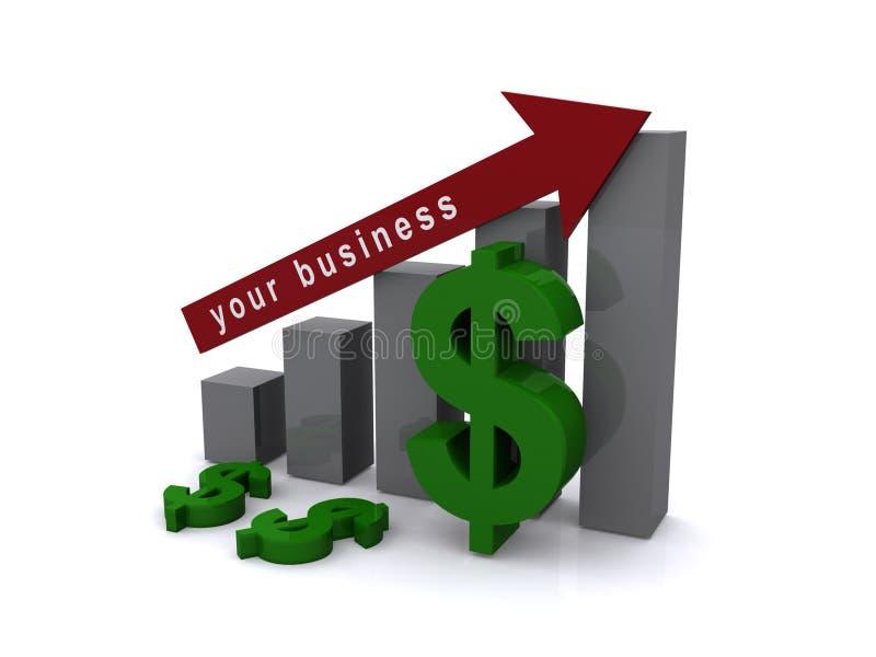 Vos affaires illustration stock