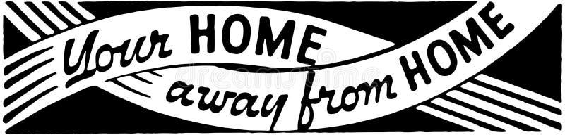 Vos 2 non domestiques à la maison illustration stock