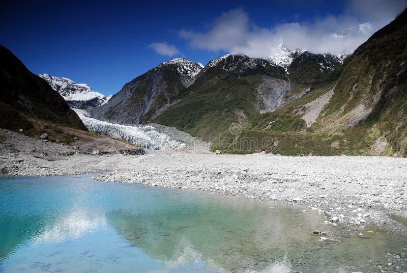 Vosgletsjer in Nieuw Zeeland stock afbeeldingen