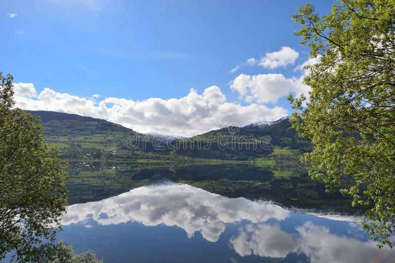 VOSS. Water source at Ogge Lake in Vatnestrøm village, southern Norway stock photo