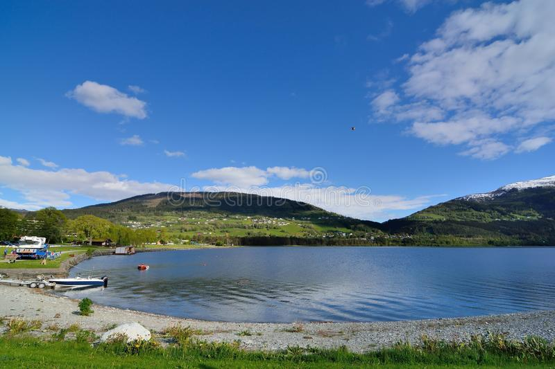 VOSS. Water source at Ogge Lake in Vatnestrøm village, southern Norway stock image