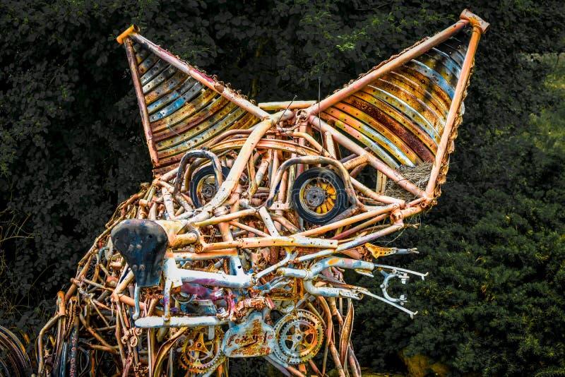Vosstandbeeld - Gerecycleerde Materialen royalty-vrije stock foto