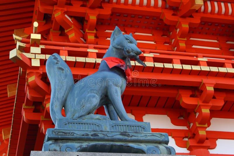 Vosstandbeeld in Kyoto stock foto