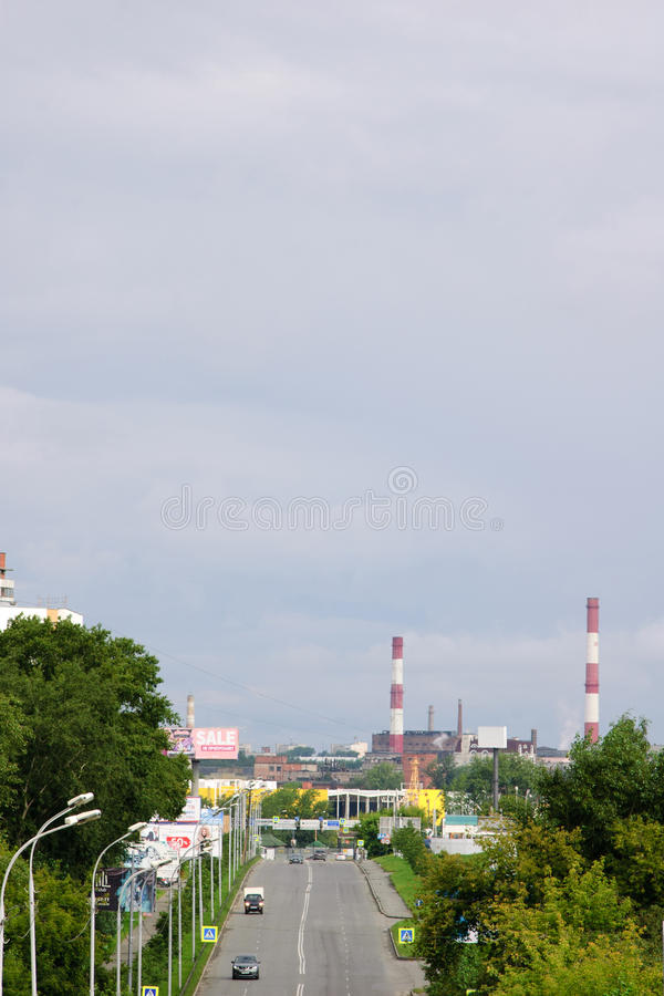 Vostochnaya街 免版税图库摄影