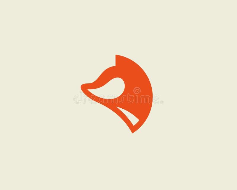 Vosvector logotype Foxy malplaatje van het embleemontwerp stock illustratie