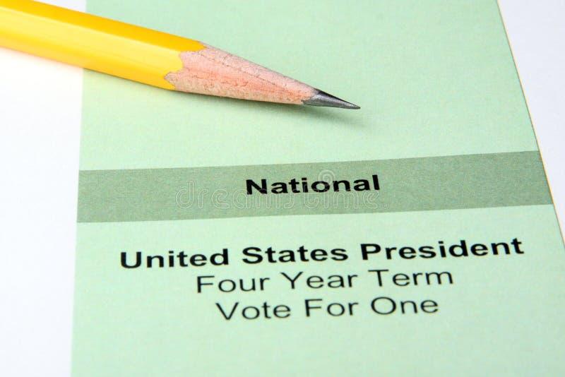 Votação fotografia de stock
