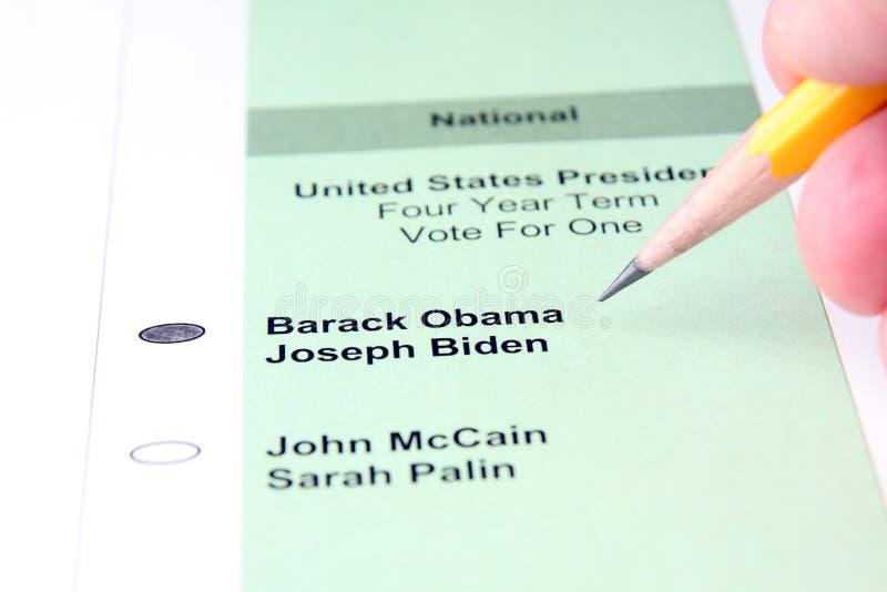 Votação imagem de stock
