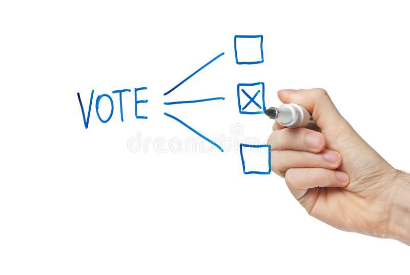 Votación foto de archivo libre de regalías