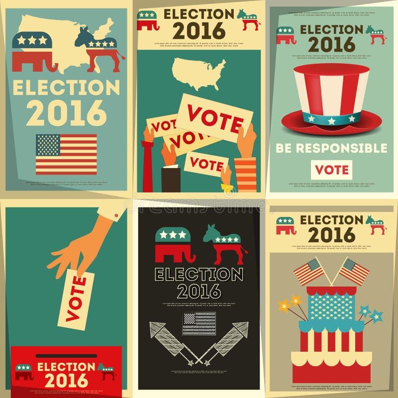 Votación de la elección presidencial stock de ilustración