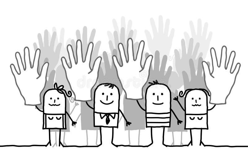 Votación de la gente libre illustration