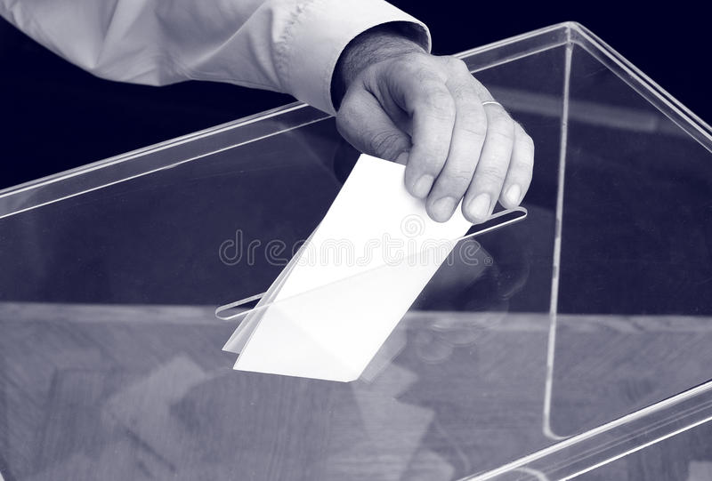 Votación, elecciones imagen de archivo libre de regalías