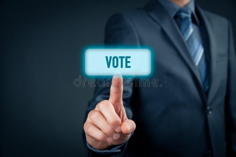 Votación electrónica de Internet fotos de archivo