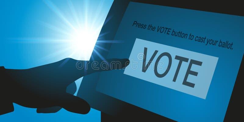 Votación electrónica por la bandera de las elecciones de los E.E.U.U. stock de ilustración