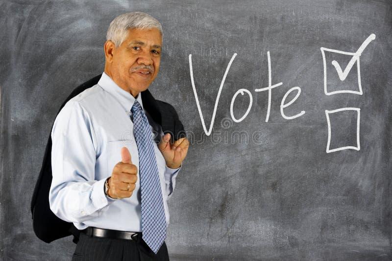 Votación en una elección foto de archivo libre de regalías