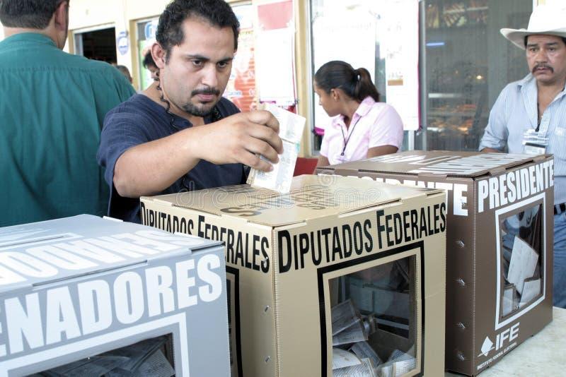 Votación mexicana fotos de archivo libres de regalías