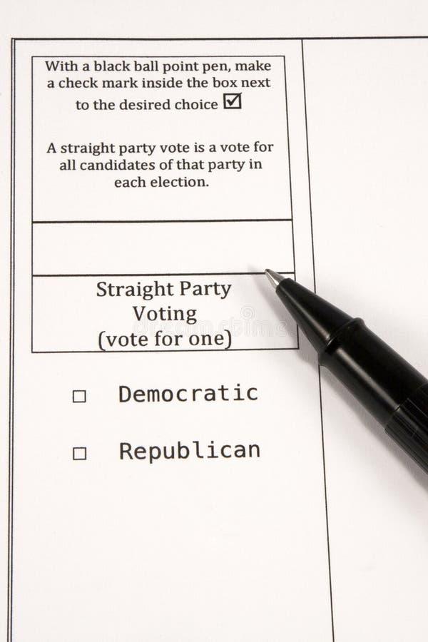 Votación recta del partido imagenes de archivo