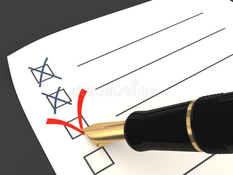 Votación. Una opción correcta libre illustration
