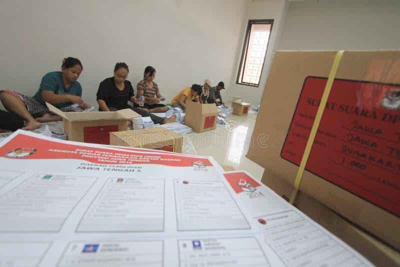 Votaciones plegables para los representantes de la elección fotos de archivo