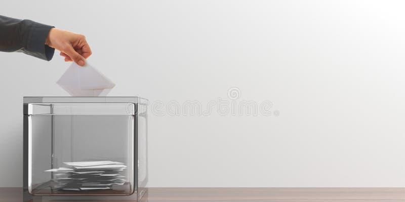 Votante en el fondo blanco ilustración 3D ilustración del vector