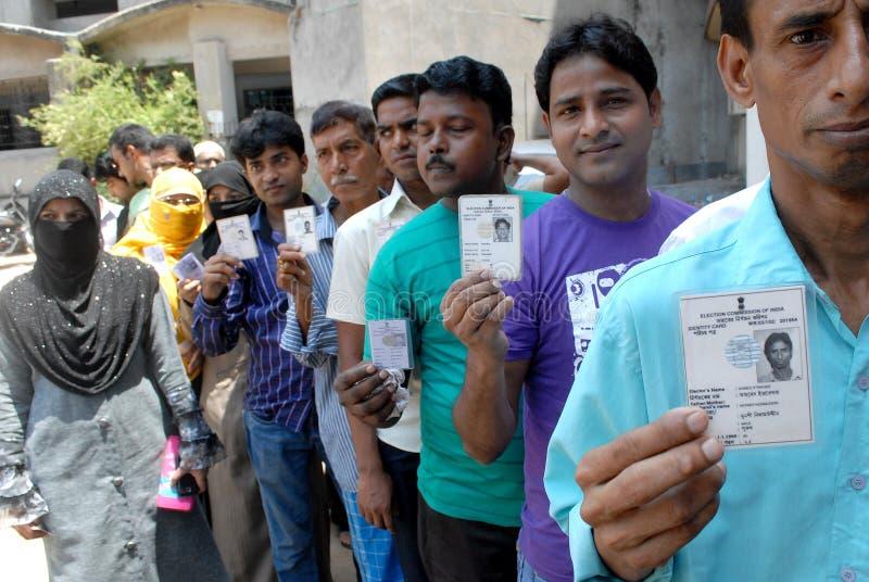 Votantes indios imagen de archivo