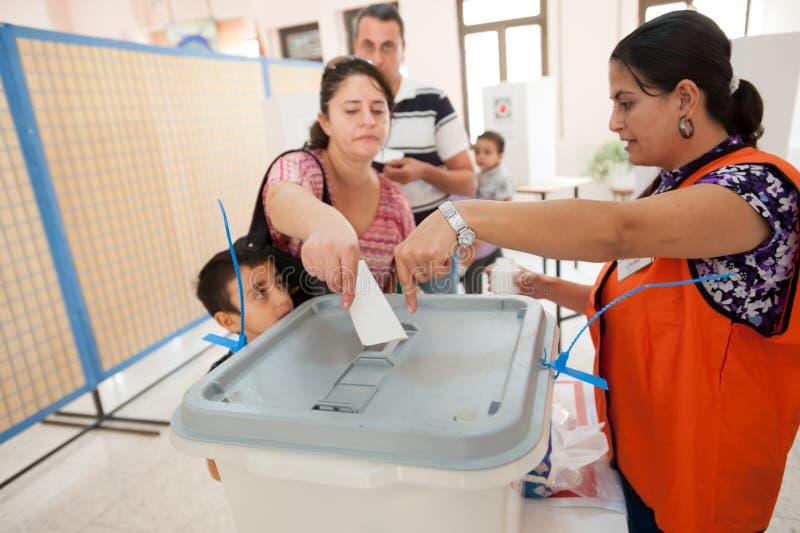 Votantes palestinos foto de archivo libre de regalías