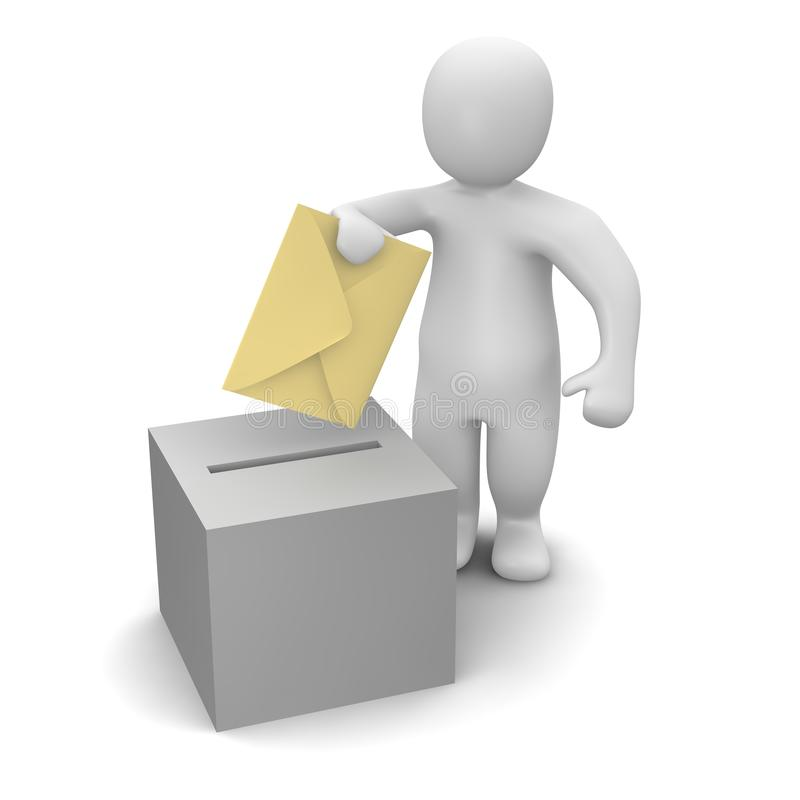 Download Vote stock illustration. Image of cartoon, guys, post - 13582513