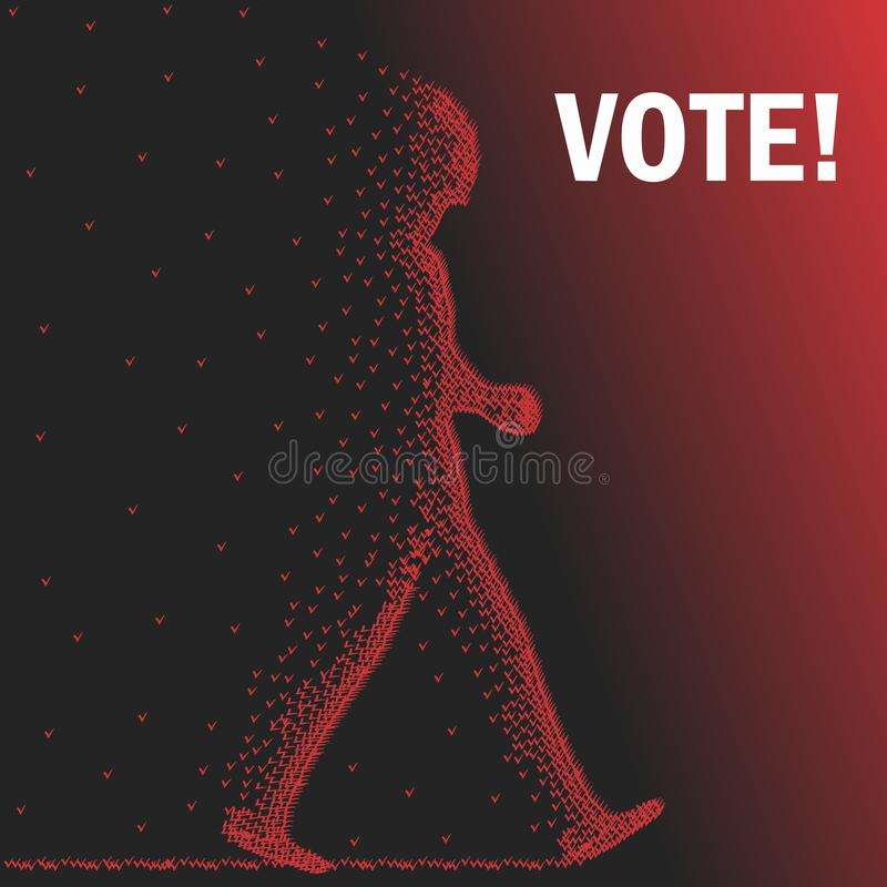 Vote illustration libre de droits