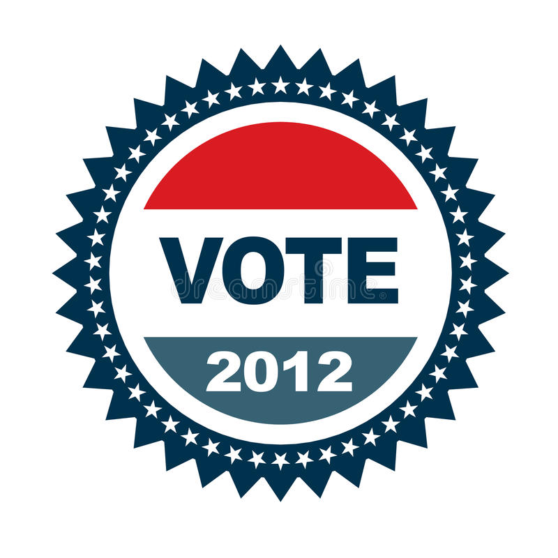 Download Vote 2012 badge stock vector. Image of political, icon - 22826500